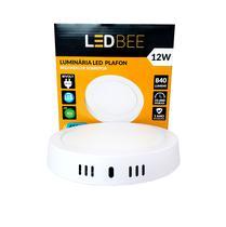 Paflon LED Sobrepor 12W Branco Redondo LedBEE - Led Bee