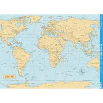 Página para Scrapbook Decor Duplo Gigante Litoarte 46,3 x 62,3 cm - Modelo SDG-049 Mapa Mundi -