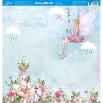 Página para Scrapbook Dupla Face Litoarte 30,5 x 30,5 cm - Modelo SD-1025 Fadas Adultas -