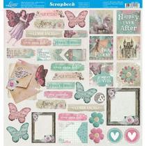 Página para Scrapbook Dupla Face Litoarte 30,5 x 30,5 cm - Modelo SD-1047 Tags -
