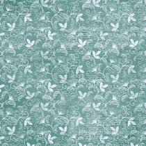 Página para Scrapbook Dupla Face Litoarte 30,5 x 30,5 cm - Modelo SD-1049 Estampa Floral Brocado -