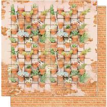 Página para Scrapbook Dupla Face Litoarte 30,5 x 30,5 cm - Modelo SD-609 Jardim Vertical -