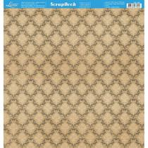 Página para Scrapbook Dupla Face Litoarte 30,5 x 30,5 cm - Modelo SD-787 Estampa Adamascada Vintage -