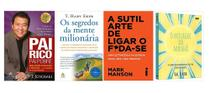Pai Rico Pai Pobre + Os segredos da mente milionária + A Sutil Arte + O Milagre da Manhã - Várias Editoras