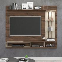Painel A 145 cm X L 180 cm X P 32 cm 3 Prateleiras para Tv Ate 55 Polegadas Vitoria Cafe/Rustico - Permóbili -