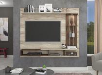 Painel A 145 cm X L 180 cm X P 32 cm 3 Prateleiras para Tv Ate 55 Polegadas Vitoria Rustico/Cafe - Permóbili -