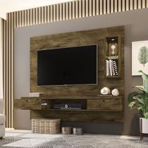 Painel Bancada com LED TV até 65 Diamante Madeira Rústica - Moveis bechara