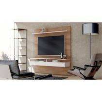 Painel Bancada Smart Para TVs até 60 Polegadas 2 Gavetas 2 Prateleiras Casa D Noce/Off White -