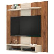 Painel Bancada Suspensa para TV até 47 Polegadas Smart Rústico Terrara/Off White - Dj Móveis -