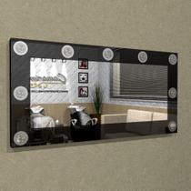 Painel Camarim ( 1,20 x 0,60 ) com Espelho e Iluminação em LED para Penteadeiras - PC07 - Camarim Móveis