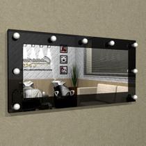 Painel Camarim ( 1,20 x 0,60 ) com Espelho e Iluminação em LED para Penteadeiras - PC08 - Camarim Móveis