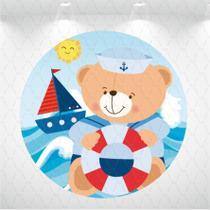 Painel circular urso marinheiro 1,5m - Design&Cia Brasil