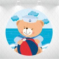 Painel circular urso marinheiro 1,5m - Design & Cia Brasil