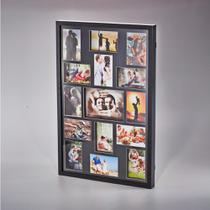 Painel Collection Para 14 Fotos 10x15 E 1 Foto 15x21 Preto - Woodart