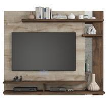 Painel com Espelho para Tv 50 Polegadas Havai Permobili Rústico/ Café -
