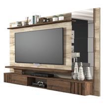 Painel com Espelho para Tv 50 Polegadas Murano Permobili Rústico/ Café -