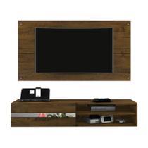Painel Combo Sorento Glass Para TV até 50 Polegadas Borsari Cor Rustico - Estrela Móveis