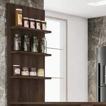 Painel de Cozinha 3 Prateleiras Suprema Luciane Móveis -