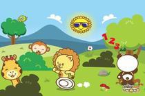 Painel de Festa Turminha Do Animazoo 03 - Colormyhome