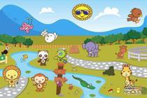 Painel de Festa Turminha Do Animazoo 04 - Colormyhome