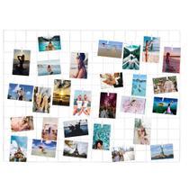 Painel De Fotos Memory Board Aramado 60x80 Branco - Iguanna