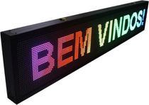 Painel De Led, Letreiro Digital 2m X 40cm P10 Color - Mega Light Brasil