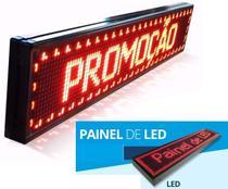 Painel De Led P10 1 M X 20 Cm - Vermelho - Mega Light Brasil
