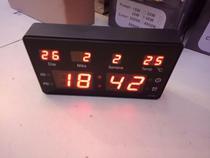 painel de led relógio de mesa digital 2011 vermelho calendario - XT