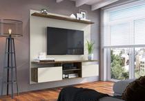 """Painel de parede para TV até 60"""" Home 181 Cm Dallas 2 portas Itauba Off White - MegaSul -"""