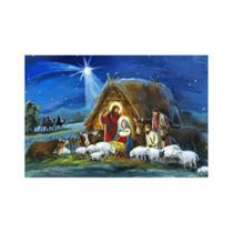 Painel de Tecido Sublimado Presépio de Natal Pintura - Fabrika de festa