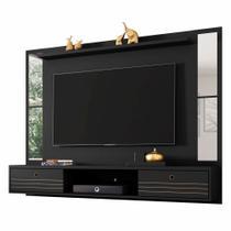 Painel de TV Cacá com Espelho Preto Fosco - Bechara