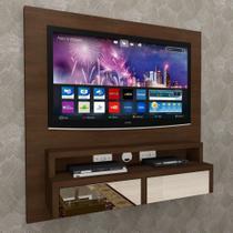 Painel de TV com Bancada Suspenso p/ TV C/ gvt espelhada - PNTV02 - Camarim Móveis