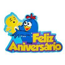 Painel Decorativo EVA Feliz Aniversário Galinha Pintadinha - Festabox
