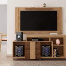 Painel e Rack para TV Até 55 Polegadas Premium Caemmun Buriti/Havana/Off White -