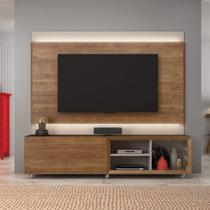 Painel e Rack para TV até 72 Polegadas Premium Caemmun Buriti/Off White -
