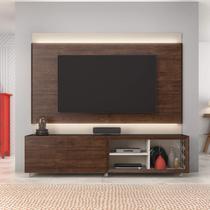 Painel e Rack para TV até 72 Polegadas Premium Caemmun Havana/Off White -