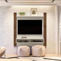 Painel Home Capri Smart para TVs de até 43 polegadas Linea Brasil - Off White/Nogueira -