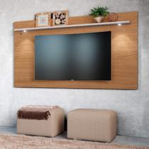Painel Home para TV até 65 Polegadas 1 Prateleira Astúrias Colibri Móveis Natural Real/Off White -