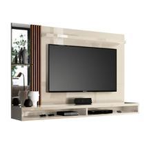 Painel home paris para tv até 55 polegadas / off white/ripado - Vianossa