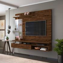 Painel Home Suspenso Dj Móveis Ares Tv Até 55 Polegadas Rustico Malbec -