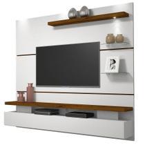 Painel Home Suspenso Greco Para TV até 65 Polegadas Branco Rústico Malbec DJ Móveis -