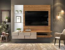 Painel Home Suspenso Para Tv até 55 Polegadas Lago MDF Deseo 1 Porta Basculante em Mosaico Dj Móveis -