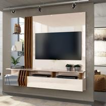 Painel Home Suspenso para TV até 55 Polegadas Moderno Lua Siena Móveis Off White/Demolição -