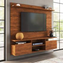 Painel Home Suspenso para TV até 55 Polegadas Noel Siena Móveis Off White/Pinho -