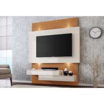 Painel Home Suspenso para TV com LED TB120L Off White/Freijó - Dalla Costa -