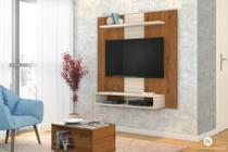 Painel Home Suspenso Smart Rústico Terrara/Off White - DJ Móveis -