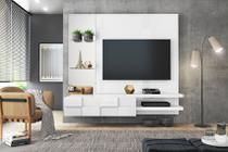 Painel Home Suspenso Turim Branco Para TV de Até 55 - DJ Móveis -