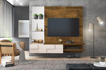 Painel Home Suspenso Turim Demolição/Off White Para TV de Até 55 - DJ Móveis -