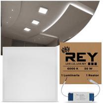 Painel Led Sobrepor 6000k Branco 50w 60x60 Quadrado - Nem Compara