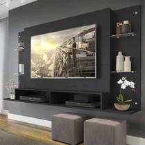 Painel Nairóbi Multimóveis para TV de até 60 Polegadas com Nicho - Preto -